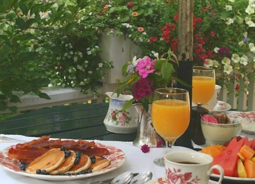 A full country breakfast is part of your stay here. Enjoy it on our front porch.