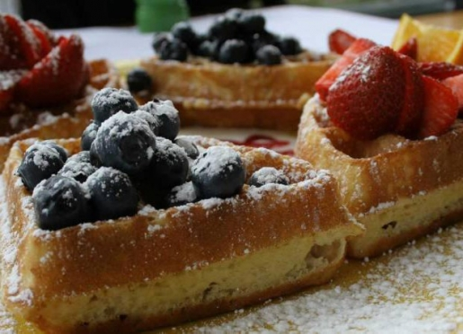 Waffles made from scratch
