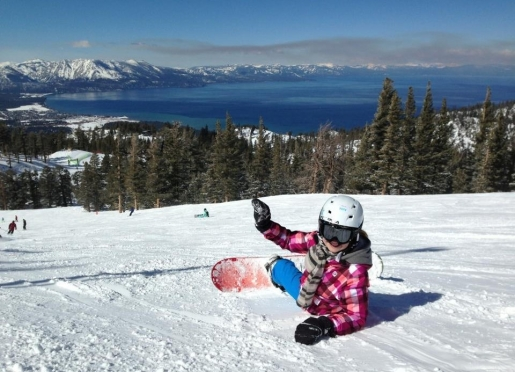 View of Lake Tahoe from the top of Heavenly.
