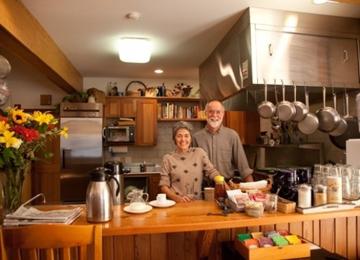 Innkeepers Jodee & Doug Sellers in the Kitchen
