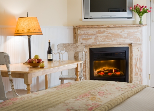 Our fireplace rooms are warm and cozy for chilly mountain nights.