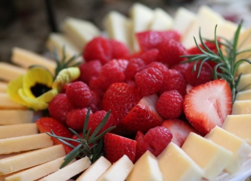 Fresh fruit is always on the menu, and we cater to guests with special dietary needs.