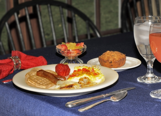 Full hot breakfast with choices served daily.  Coffee & tea service available prior to breakfast.