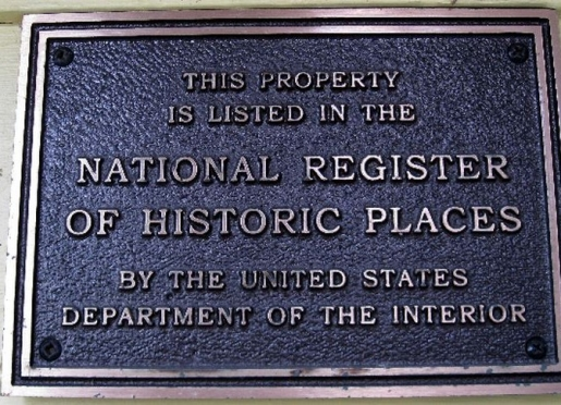 Historical Places Plaque