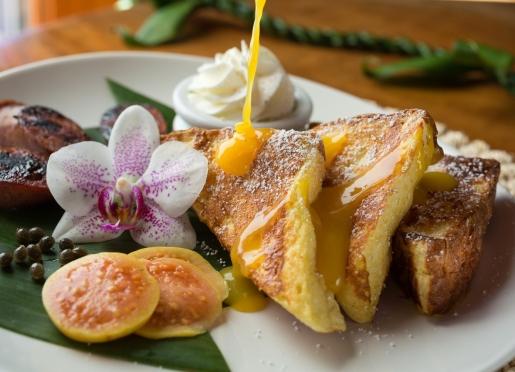 Punalu'u French Toast with Liliko Cream Cheese