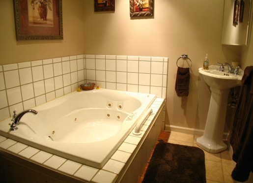Relax in the Jacuzzi,  Belhaven Room full bath