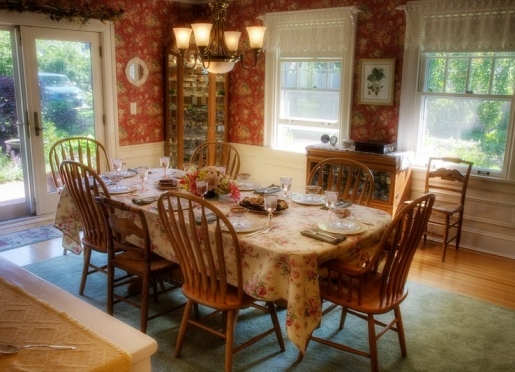 Enjoy a beautifully set table and home cooked food.