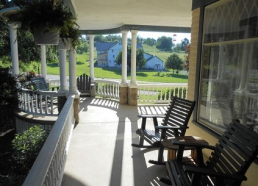 Take a break on our wrap around front porch