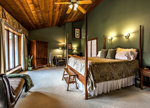 The Evergreen Room, one of six spacious and relaxing guest rooms at Inn on Mill Creek B&B