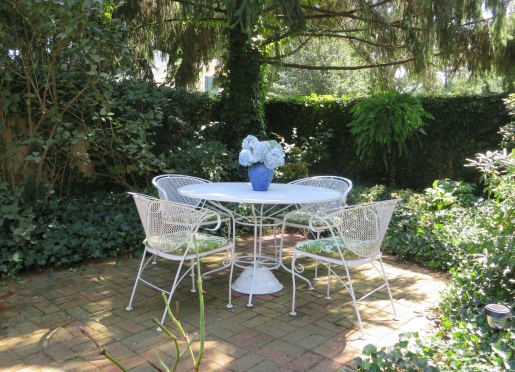 Relax on our outdoor garden-patio with a glass of lemonade.