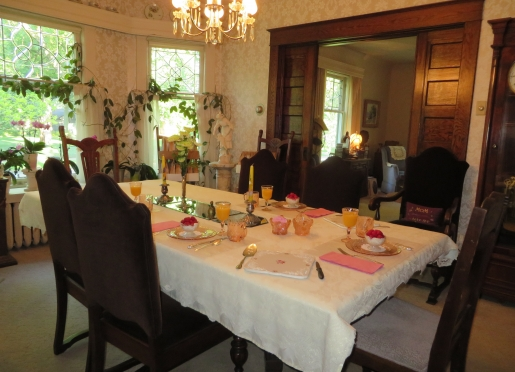 We serve a delicious full breakfast in our formal dining room.