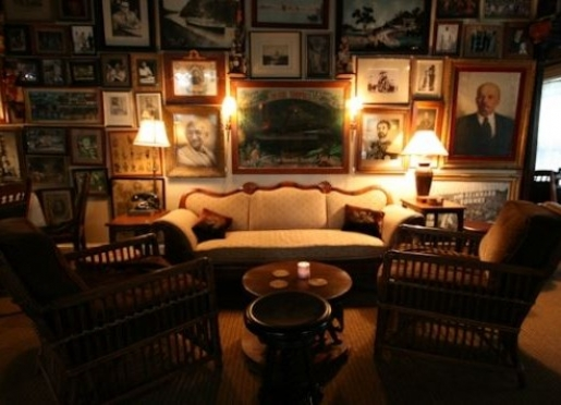 The Baron Pub & Wine Bar features an eclectic mix of old world paintings and lithographs