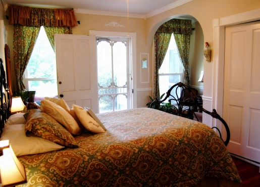 The Schloss Room - one of our Pet Friendly Rooms with a private porch on the sunrise side of the inn