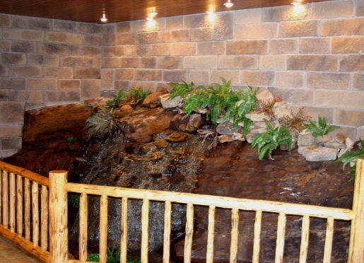 Romancing the Stone Cabin Waterfall