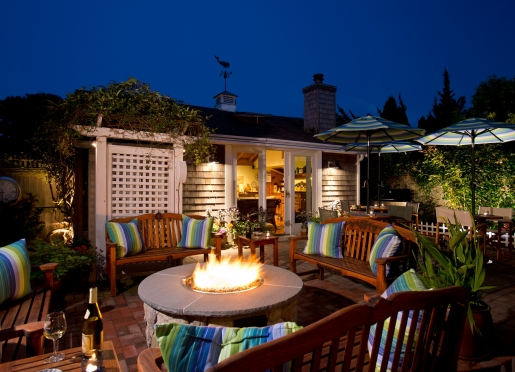 Enjoy an evening sitting by our new gas outdoor fire pit