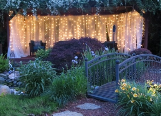 Our lighted deck area is a favorite spot for guests--many weddings performed here!