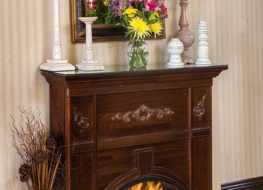 Fireplaces in Margaret's Porch Suite, Church Steeple, Rendezvous and the Dream Suite