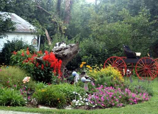 Enjoy the gardens at First Farm Inn and take some perennial starts home.