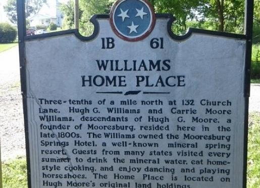 Historical Sign for Home Place