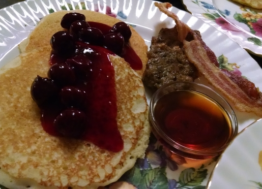 Gluten-Free Pancakes served with New York State Maple Serup