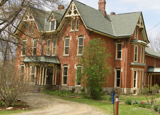 Brookside Manor Bed and Breakfast in early spring. EMAIL brookbnb@yahoo.com. Telephone 716-672-7721