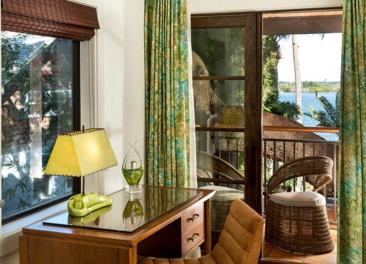 Bay View Suite - With private furnished balcony on the second floor level.