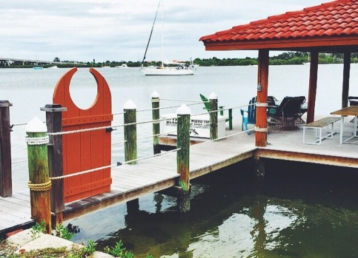 Our private dock, where our guests can interact with our nautical surroundings.