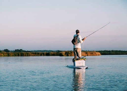 Flats fishing on a paddleboard - just minutes from our private dock.