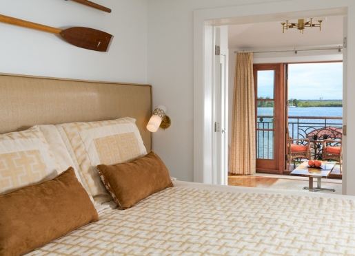 Bay Front Suite with private balcony overlooking the Atlantic Intracoastal Waterway.