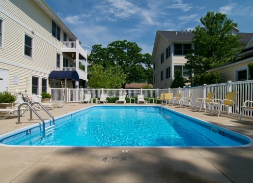 Private landscaped heated outdoor pool