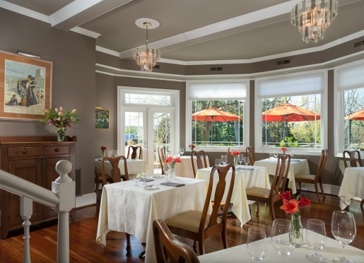 Our romantic and newly renovated dining rooms