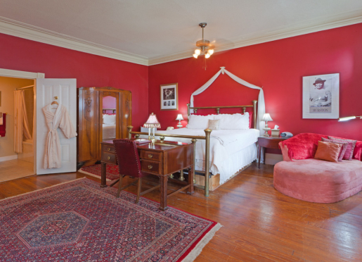 Zora Neale Hurston Room, furnished with a King size bed