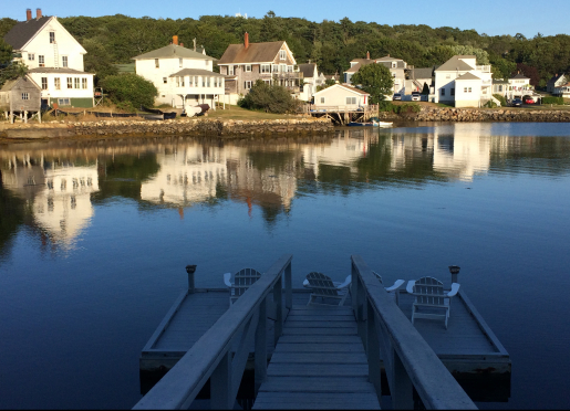Harbour Towne Inn dock with Adirondack chairs