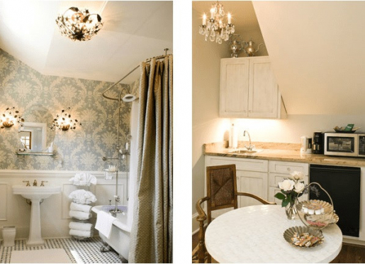 Camellia bath and kitchenette