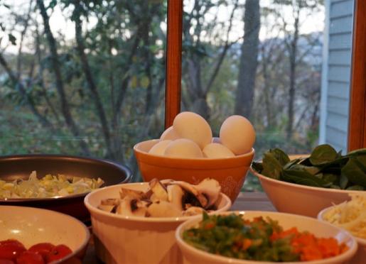 Sunrise breakfast prep