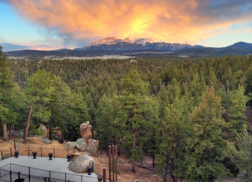 Great Sunset over Pikes Peak.